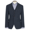 New 100 % Wool Premium MensTweed Jacket With Waistcoat Vest