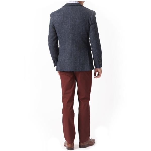 New 100 % Wool Premium MensTweed Jacket With Waistcoat Vest Back