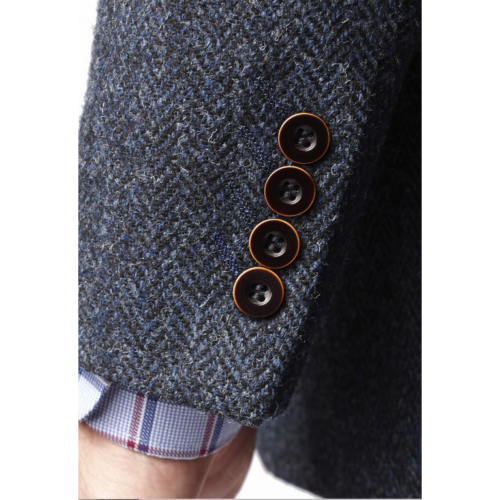 New 100 % Wool Premium MensTweed Jacket With Waistcoat Vest Button