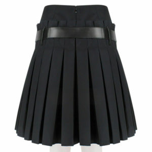Women Scottish Luxurious Black Box Pleated Kilt Skirt