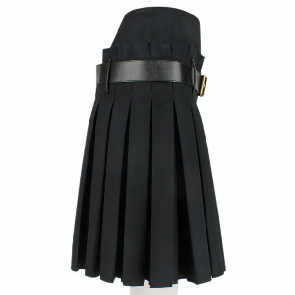 Women Scottish Luxurious Black Box Pleated Kilt Skirt 4