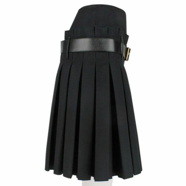 Women Scottish Luxurious Black Box Pleated Kilt Skirt 4