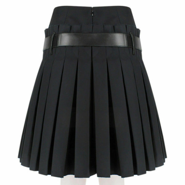 Women Scottish Luxurious Black Box Pleated Kilt Skirt