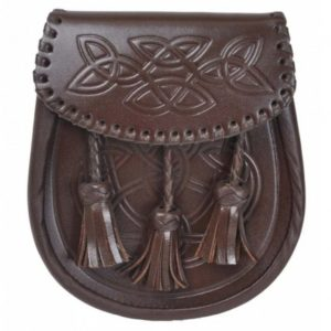 Brown Embossed Leather Sporran