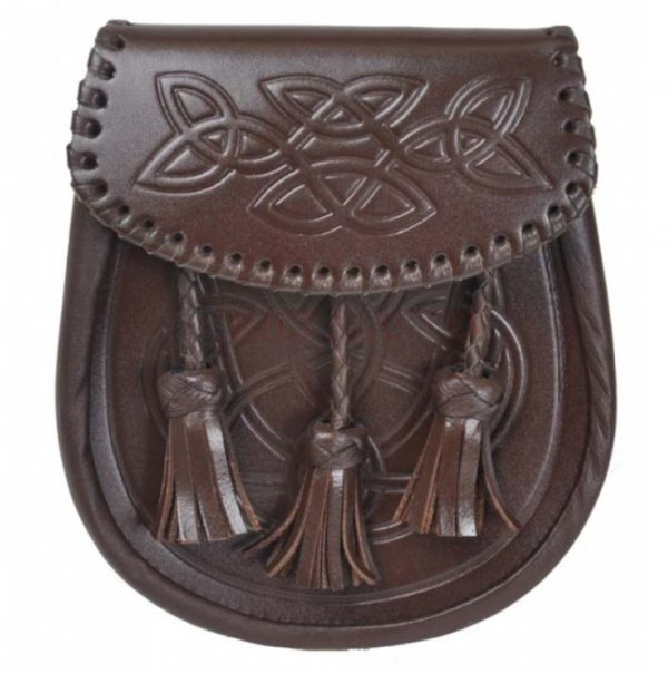 Brown Embossed Leather Sporran