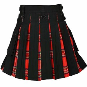 Men Hybrid Utility Kilt Black Royal Stewart Tartan03