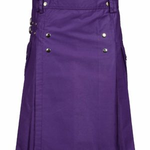 Men Purple Utility Kilt0