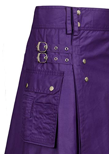 Men Purple Utility Kilt