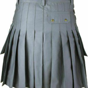 Men's Gray Utility/Wedding Kilt