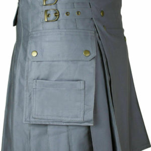 Men's Gray Utility/Wedding Kilt
