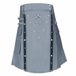 New Men Stylish Gray Utility kilt