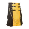 Scottish Black and Yellow Utility Kilt For Active Man