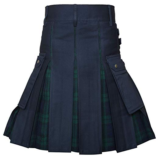 Utility Kilt Cotton Hybrid Modern Tartan Kilt New For Mens