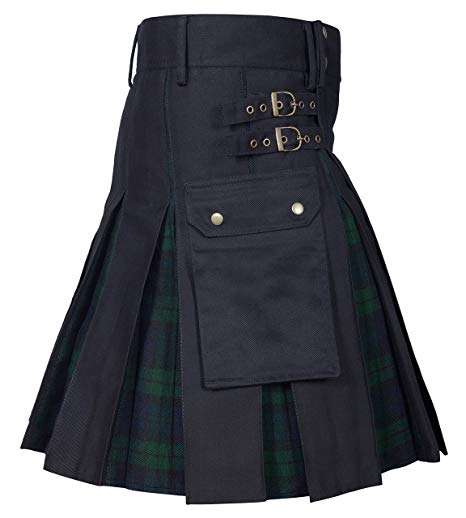 Utility Kilt Cotton Hybrid Modern Tartan Kilt New For Mens01