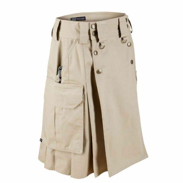 Military Combat Tactical Duty Kilt Police Cargo Urban Uniform Khaki Cotton Kilt