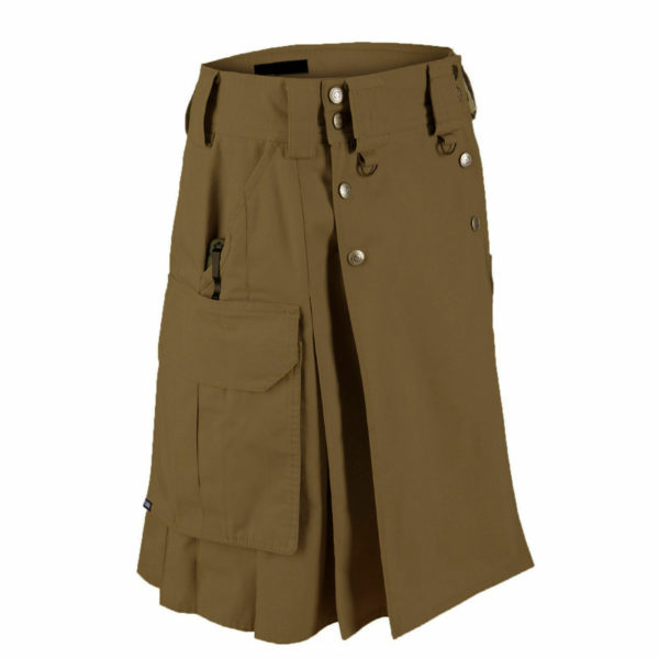 Dark Brown Tactical Men's Combat Cargo Uniform Battle Utility Kilt
