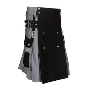 Black & Gray Scottish Two Tone Utility Kilt