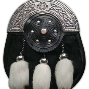 Black and White Rabbit Fur Sporran