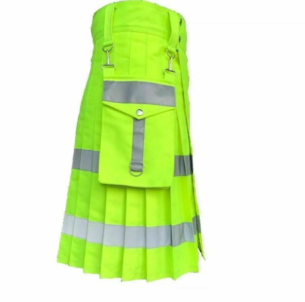 Florescent Kilt with Detachable Pockets all around reflector1