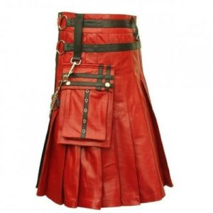 Gothic Mens Leather Kilt