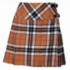 Ladies Knee Length Modern Tartan Pleated Kilt