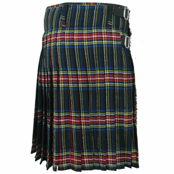 Scottish Mens Black Stewart Tartan Kilt1