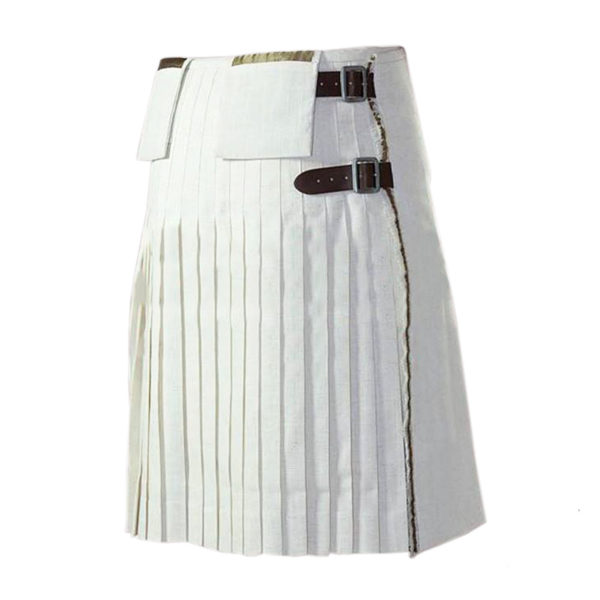 White Christmas Plaid Kilt1