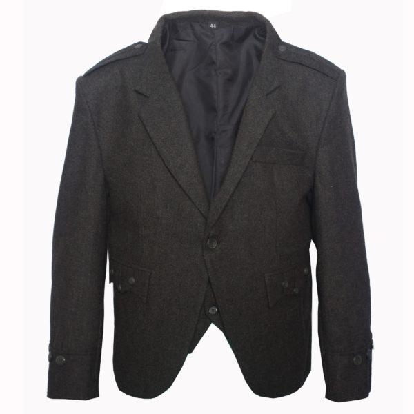 Dark Green Tweed kilt jacket With 5 Button Vest