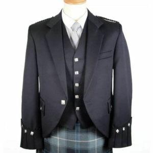 100% WOOL Argyle kilt Jacket & Waistcoat Vest, Scottish Argyle Jacket