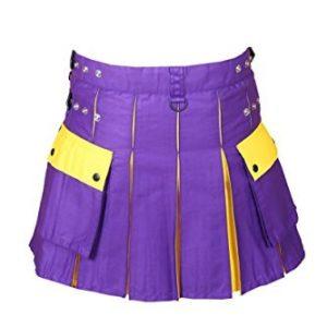 Hybrid Utility Kilt For Men Purple & Yellow