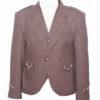 New Brown Trendy Scottish Tweed Argyle Kilt Jacket With WaistcoatVest
