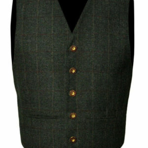 Trendy Scottish Tweed Argyle Kilt Jacket With Waistcoat Vest