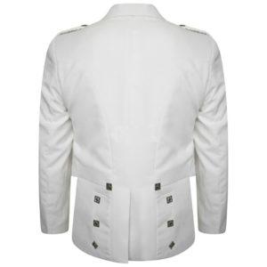 Boys & Mens White Pipe Band Highland Prince Charlie Kilt Jacket & Waistcoat