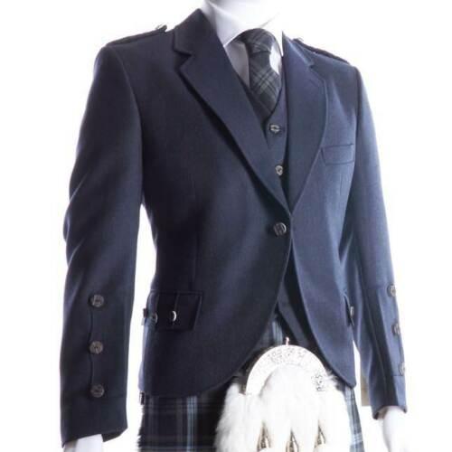 Crail Kilt Jacket and Waistcoat in Midnight Blue1