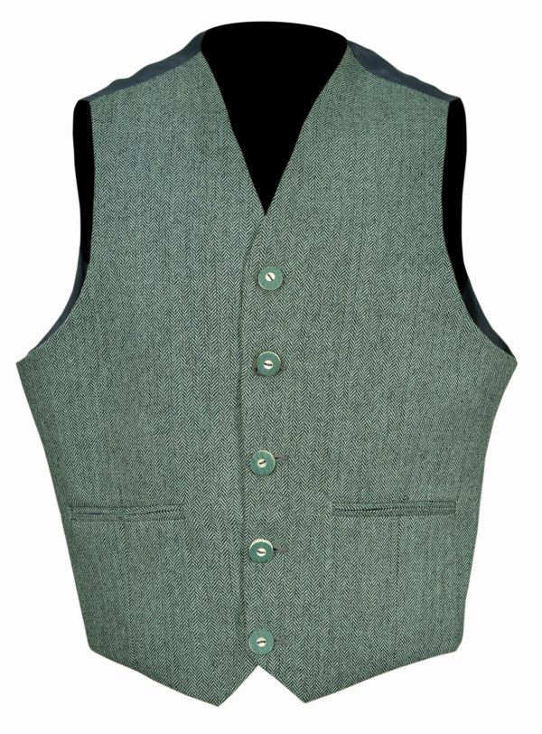 Lovat Green Button Vest