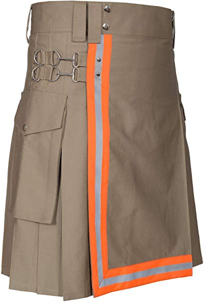 Mens Firefighter High Visibility  Utility Tactical Kilt