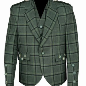 Traditional Style Lovat Green 5 Button Vest.