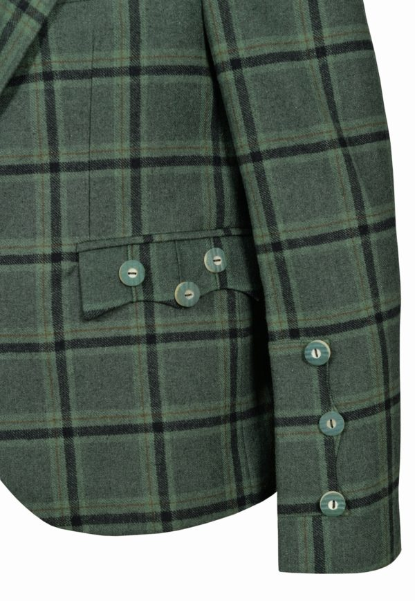 Traditional Style Lovat Green Tweed Argyle Kilt Jacket With 5 Button Vest…