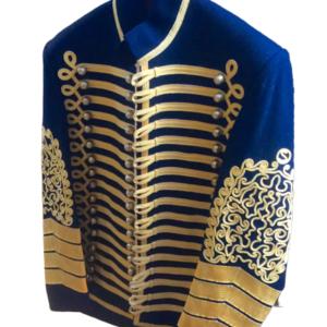 Blue Jimi Hendrix Jacket, Military Tunic, Hussars Pelisse, Bespoke