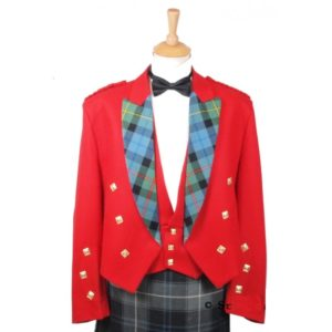 RED Prince Charlie Jacket & 3 button Waistcoat