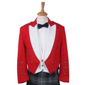 RED Prince Charlie Jacket & white Waistcoat