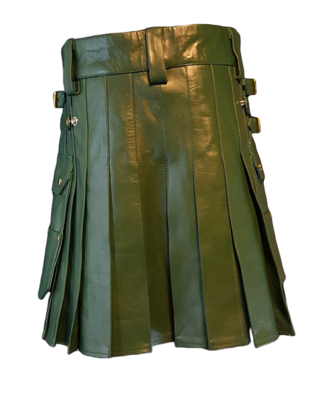 Fashion Leather Utility Kilt