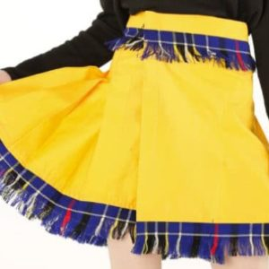 Beautiful Women Yellow Tartan Skirt