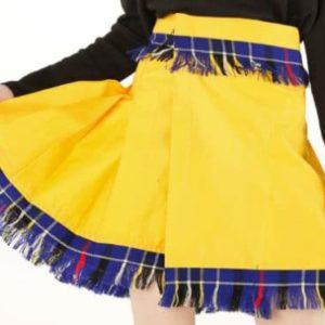 Beautiful Women Yellow Tartan Skirt