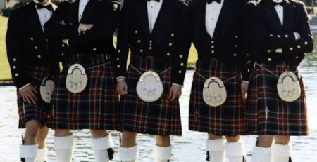 Why did Scottish men wear kilts?