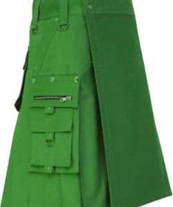 New Stylish Men Green Fashion Kilt