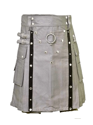 Buy Stylish Gothic Grey Belted Fashion Kilt For Sale