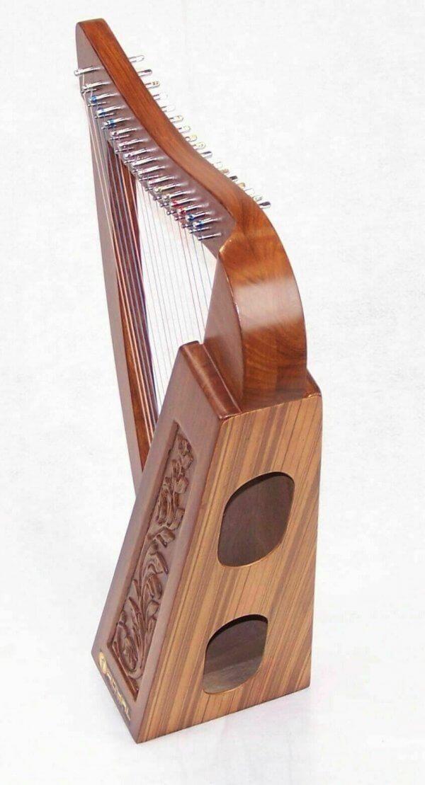 27 Inch Tall Celtic Irish Knee Harp 17 Strings Solid Wood Free Bag Strings Key