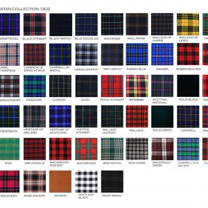 All Tartan colors