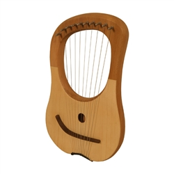 Lyre Harp 10 String Lacewood